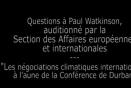 Questions à Paul Watkinson