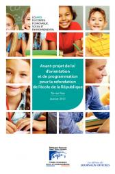 Avant-projet de loi d'orientation et de programmation pour la refondation de l'école de la République