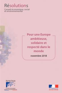 Pour une Europe ambitieuse, solidaire et respectée dans le monde
