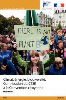 Climat, énergie, biodiversité. Contribution du CESE à la Convention citoyenne
