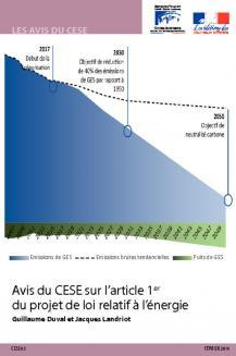 Avis du CESE sur l'article 1er du projet de loi relatif à l'énergie