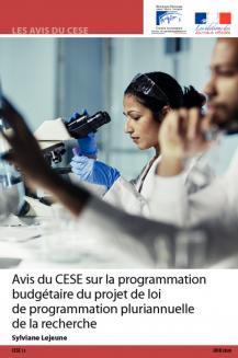 Avis du CESE sur la programmation budgétaire du projet de loi de programmation pluriannuelle de la recherche