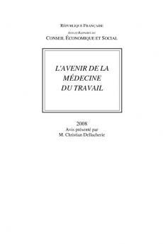 L Avenir De La Medecine Du Travail Travaux Publies Travaux Du Cese