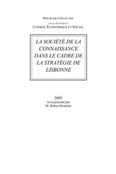 La société de la connaissance dans le cadre de la stratégie de Lisbonne