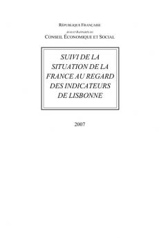 Suivi de la situation de la France au regard des indicateurs de Lisbonne