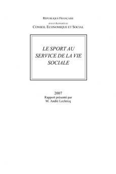 Le sport au service de la vie sociale
