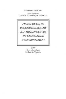 Projet de loi de programme relatif à la mise en oeuvre du Grenelle de l'environnement
