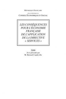 """Les conséquences pour l'économie française de l'aplication de la directive """"services""""."""