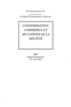 Consommation, commerce et mutations de la société