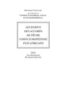 Les enjeux des accords de pêche Union européenne / pays Africains
