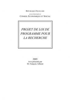 Projet de loi de programme pour la recherche