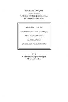 Stratégie UE 2020 : contribution du Conseil économique, social et environnemental à la préparation du programme national de réforme