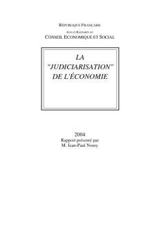 """La """"judiciarisation"""" de l'économie"""""""