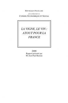 La vigne, le vin : atout pour la France