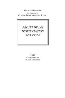 Projet de loi d'orientation agricole
