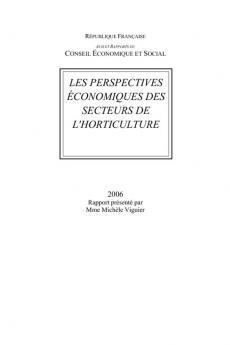 Les perspectives économiques des secteurs de l'horticulture