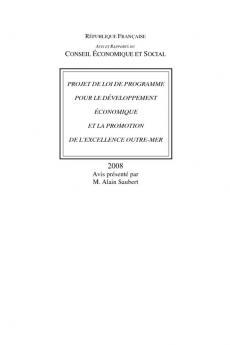 Projet de loi de programme pour le développement économique et la promotion de l'excellence outre-mer
