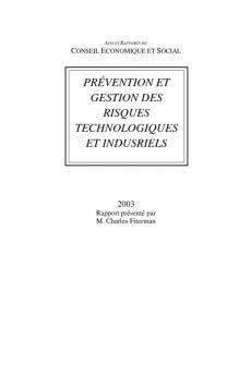 Prévention et gestion des risques technologiques et industriels