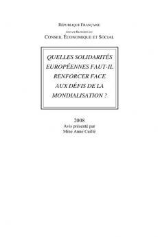 Quelles solidarités européennes faut-il renforcer face aux défis de la mondialisation