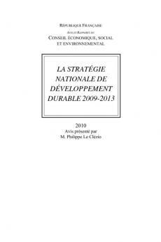 La stratégie nationale de développement durable 2009-2013