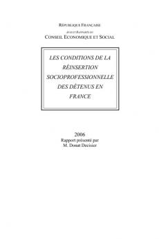 Les conditions de la réinsertion socioprofessionnelle des détenus en France