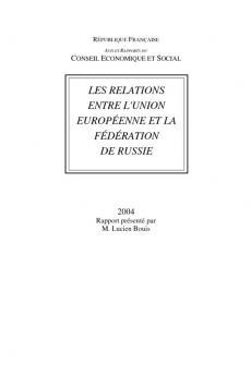 Les relations entre l'Union européenne et la fédération de Russie