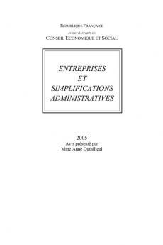 Entreprises et simplifications administratives