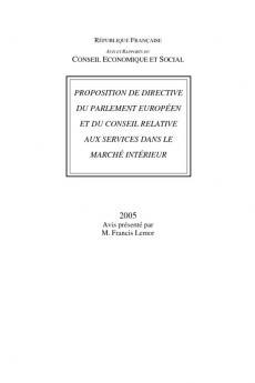 Proposition de directive du parlement européen et du conseil relative aux services dans le marché intérieur