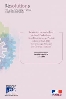 Résolution sur un tableau de bord d'indicateurs complémentaires au Produit intérieur brut (PIB) élaboré en partenariat avec France Stratégie