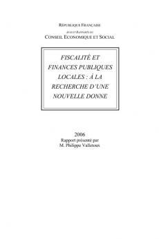 Fiscalité et finances publiques locales : à la recherche d'une nouvelle donne