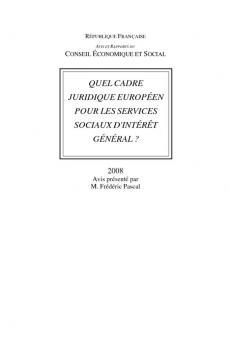 Quel cadre juridique européen pour les services sociaux d'intérêt général ?