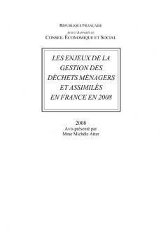 Les enjeux de la gestion des déchets ménagers et assimilés en France en 2008