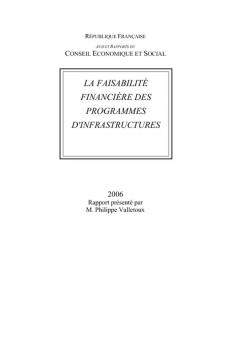 La faisabilité financière des programmes d'infrastructures