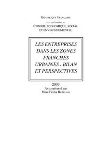 Les entreprises dans les zones franches urbaines : bilan et perspectives