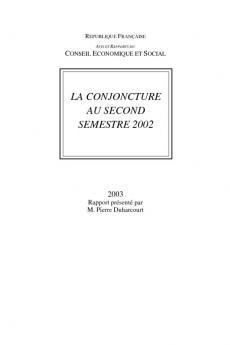 La conjoncture au second semestre 2002