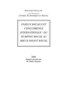 Enjeux sociaux et concurrence internationale : du dumping social au mieux-disant social