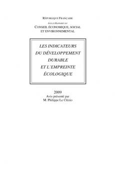 Les indicateurs du développement durable et l'empreinte écologique