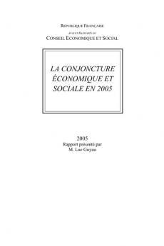 La conjoncture économique et sociale en 2005