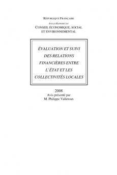 Evaluation et suivi des relations financières entre l'Etat et les collectivités locales