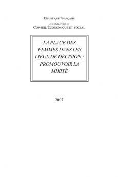 La place des femmes dans les lieux de décision : promouvoir la mixité