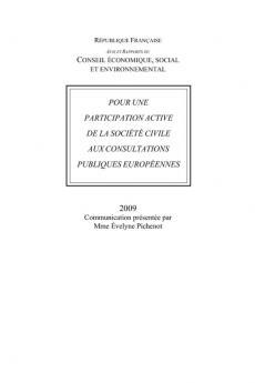 Pour une participation active de la société civile aux consultations publiques européennes