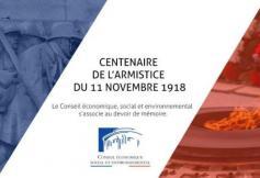 Le CESE, assemblée de la société civile organisée, présent à la cérémonie du centenaire de l'armistice du 11 novembre 1918