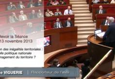 Revoir la séance du 13 novembre : La réduction des inégalités territoriales.