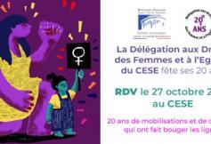 La Délégation aux droits des femmes et à l'égalité du CESE fête ses 20 ans