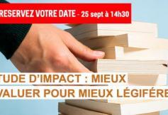Revoir la séance plénière consacrée aux études d'impact