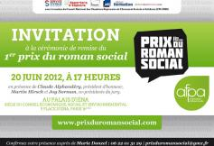 Prix du roman social par l'AFPA