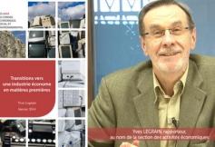 Préconisations du CESE pour une transition vers une industrie économe en matières premières