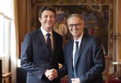 Dialogue constructif et enthousiaste entre Patrick Bernasconi et Benjamin Griveaux