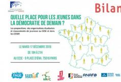"""""""Quelle place pour les jeunes dans la démocratie de demain ?"""" bilan de l'événement du 17 décembre 2019"""