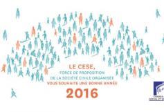 Le CESE vous présente ses meilleurs vœux pour l'année 2016 !